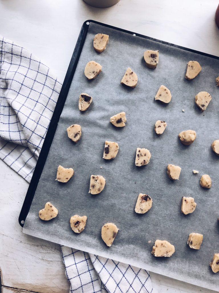 Frosne skiver småkagedej
